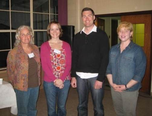 Spring 2010, Best Graduate Oral Presentation winners. From left to right: Pam Morgan (NEERS President), Kristin Wilson (Univ. of Maine), Marc Skinner (Canadian Rivers Institute) and Martha Jones (ACCESSPresident).